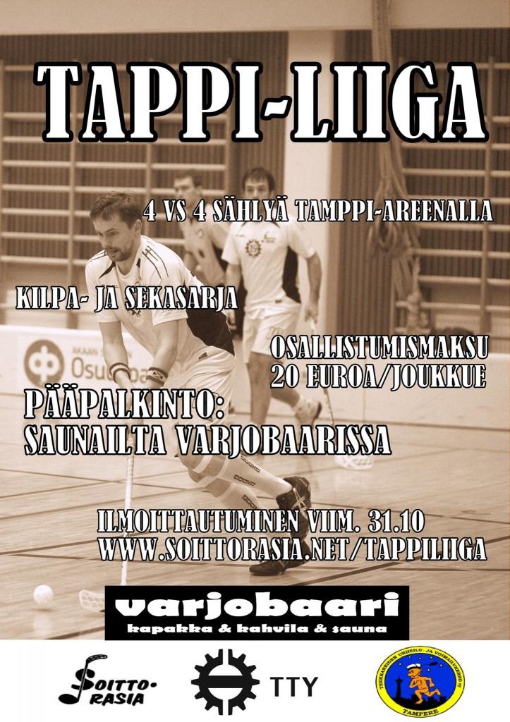 Soittorasia järjestää marraskuussa TTY:n opiskelijoille ja henkilökunnalle tarkoitetun 4v4 sählysarjan Tappi-liigan.